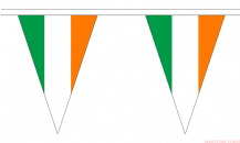 IRELAND TRIANGULAR BUNTING - 20 METRES 54 FLAGS